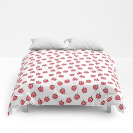 Red Pepper Watercolour Pattern Comforters