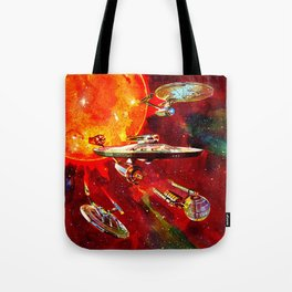 StarShips of the Federation Tote Bag