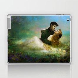Love me tender - Sad couple in loving embrase in the lake Laptop & iPad Skin