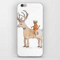 suit iPhone & iPod Skins featuring Deer Suit, Cat Suit by Brent Braaten