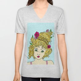 Flower Girl Unisex V-Neck