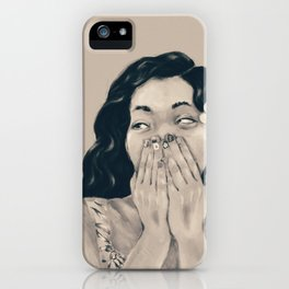 Hey Sunshine (B&W) iPhone Case