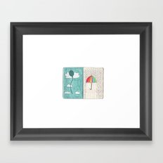 Always trust the weather Framed Art Print