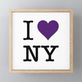 I love NY Framed Mini Art Print