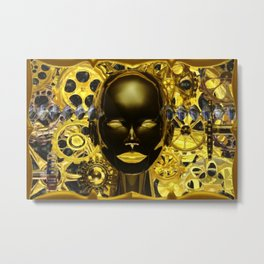 Android Clockwork Metal Print