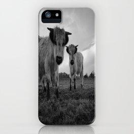 High Park Cow Mono iPhone Case