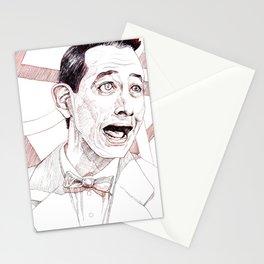 Pee Wee Herman by Aaron Bir Stationery Cards