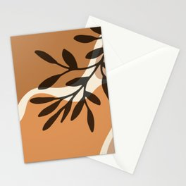 Modern Minimalist Abstract #12 - Nude botanical Stationery Cards