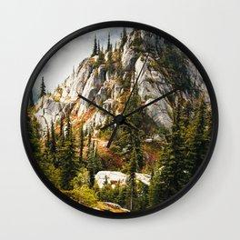 High Mountain Pines Wall Clock