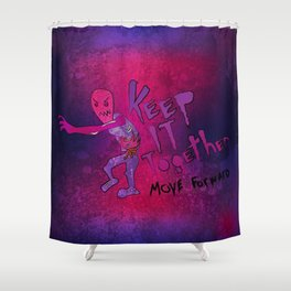 Keep It Together (Zombie Motivational) Shower Curtain
