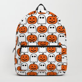 Spooky Halloween Ghosts And Pumpkins Backpack