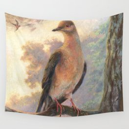 Passenger Pigeon - Martha Finds Her Flock  Wall Tapestry