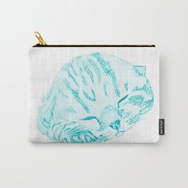 Water green kitten Carry-All Pouch