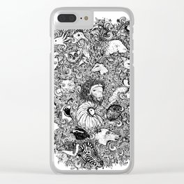 Animals A-Z Clear iPhone Case