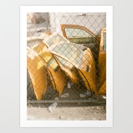 Cab Graveyard Art Print