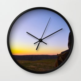 Facing Dawn Wall Clock