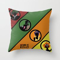 bebop Throw Pillows featuring Bebop Team by AngoldArts