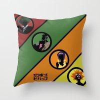 bebop Throw Pillows featuring Bebop Team by AngoldArts