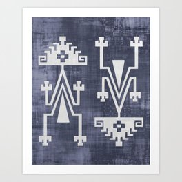 Chilean Tribal Art Print
