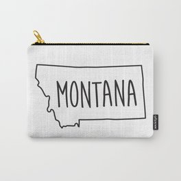 Montana Type Map Carry-All Pouch