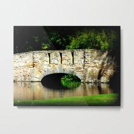 Bridge over Pond Metal Print