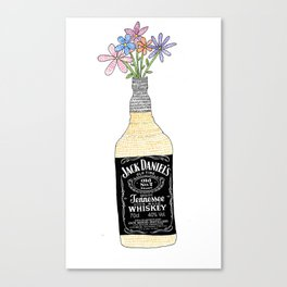 Drinking is pretty Canvas Print