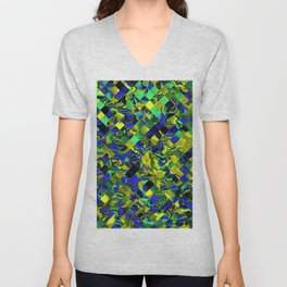 zappy Jumbled 1 Unisex V-Neck