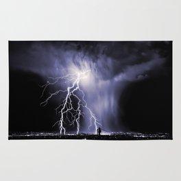 Lightning and Rain Funnel Rug