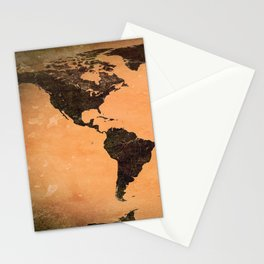 Abstract Earth Science Map Stationery Cards
