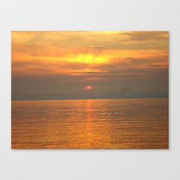 Rovigno Sunset Canvas Print