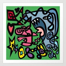 Bacon Shark! Art Print