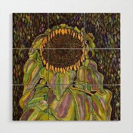 Klimt Sunflower Wood Wall Art