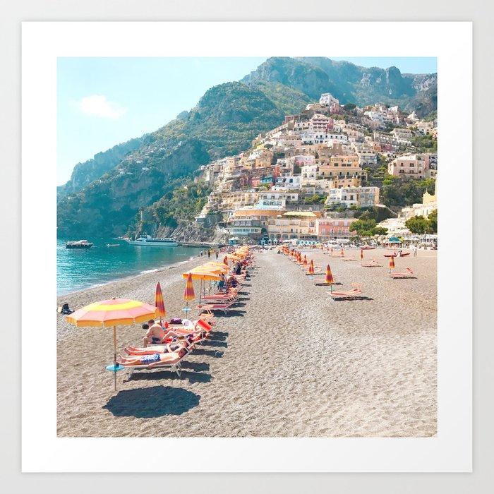 perfect beach day - Positano, Italy Kunstdrucke
