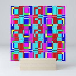 Color Bars/Windows - Fuchsia Mini Art Print
