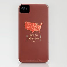 Nice to Meat You USA Map Slim Case iPhone (4, 4s)