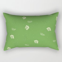 Virgo Pattern - Green Rectangular Pillow