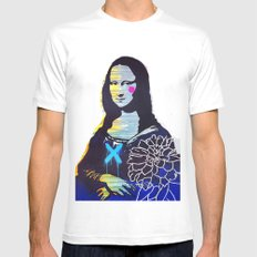 Mona Lisa MEDIUM Mens Fitted Tee White