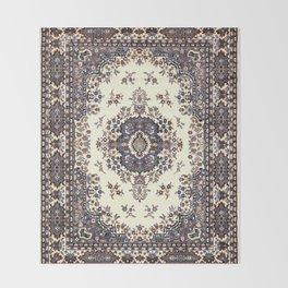 V8 Moroccan Epic Carpet Texture Design. Throw Blanket