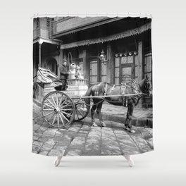 New Orleans milk cart Shower Curtain