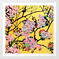 blossom Art Prints featuring Blossom by marlene holdsworth