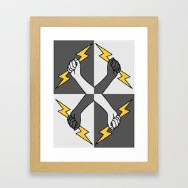 Everybody Thunderbolt (Heraldic) Framed Art Print