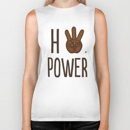 HiiiPower (w/text) : Chocolate Biker Tank