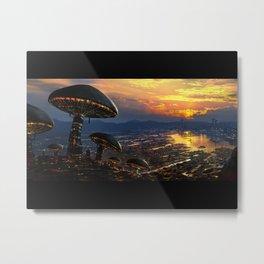 Mushroom City Metal Print