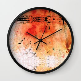 Red Abstract Art - Taking Chances - By Sharon Cummings Wall Clock