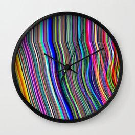 Glitch Stripes Wall Clock