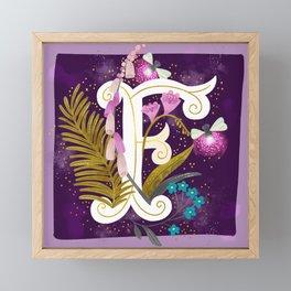 Artsy Alphabet: F Framed Mini Art Print