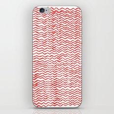Red Wavy Chevrons iPhone & iPod Skin