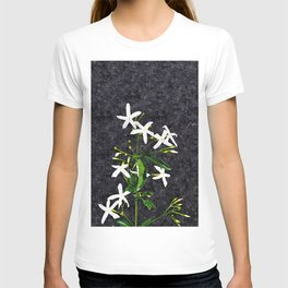 Jasmine Flowers Bouquet Floral Painting T-shirt