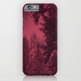 A cold wintry evening... iPhone Case