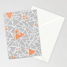 A Bazillion Triangles (Orange Gray) Stationery Cards
